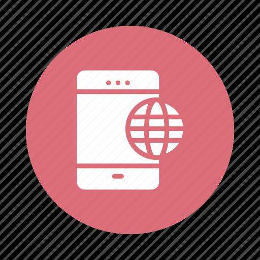 global, international, internet, mobile, network, phone, smart icon
