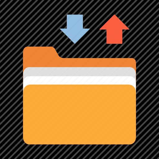 file, files transfer, folder, ftp, streaming, transfer, upload icon