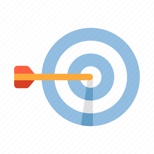 business, focus, goal, objective, strategy, success, target icon