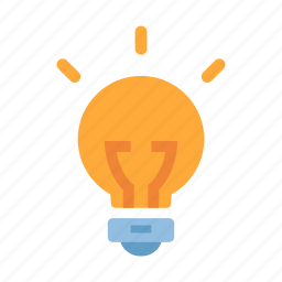 bulb, creative, idea, innovation, inspiration, invention, solution icon