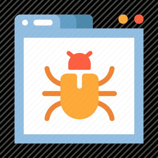 bug, computer, internet, internet threat, malware, threat, virus icon