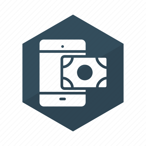 Banking, business, mobile, money, payment, phone, transaction icon - Download on Iconfinder