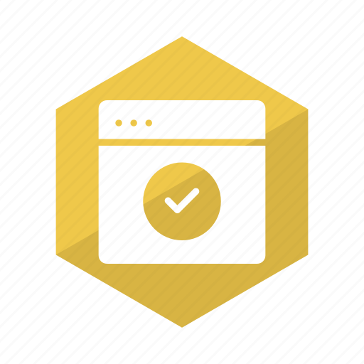 browser, check, checkbox, marks, tick, web, website icon