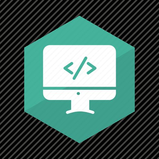 code, coding, developer, development, online, service, web icon