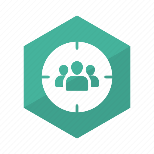 audience, customers, focusgroup, people, target, users, userstarget icon
