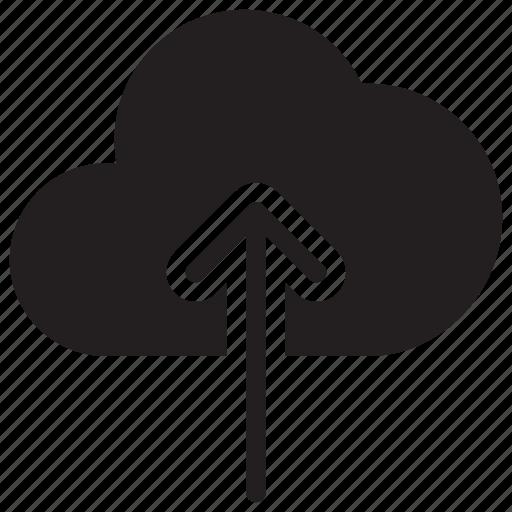 arrow, cloud, computing, data, save, up, upload icon