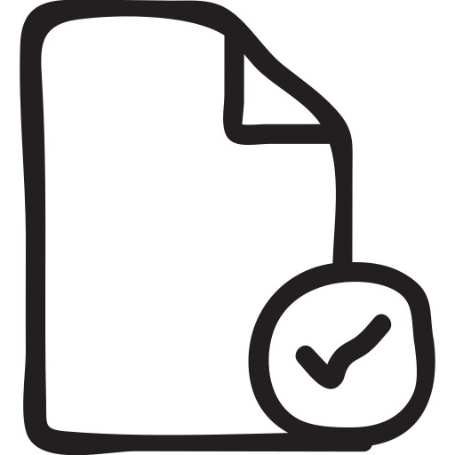 check, document, file, mark, notepad, text, verify icon