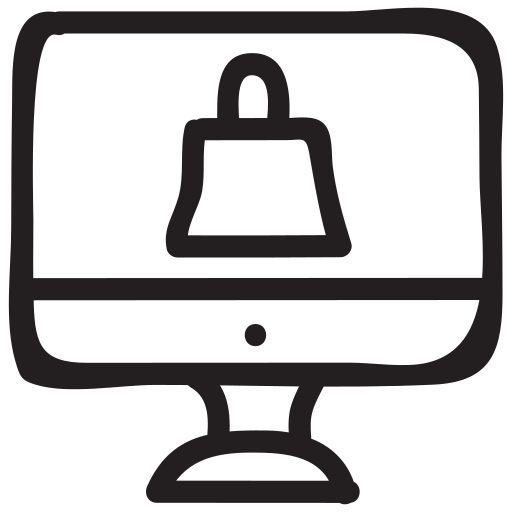 computer, delivery, ecommerce, monitor, online, product, shipping icon