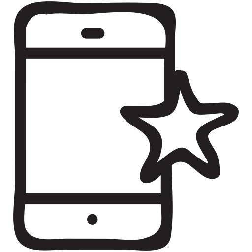 Smartphone, star, favourite, cell, mobile, iphone, device icon