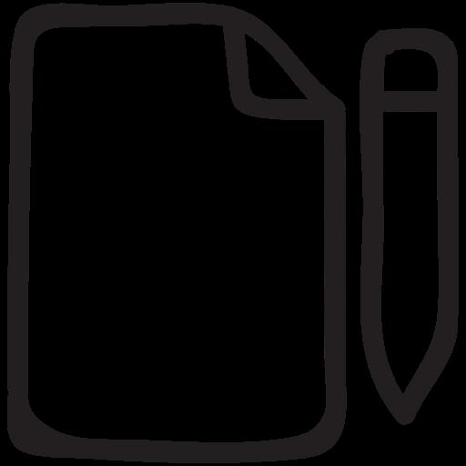 document, draft, edit, file, format, pencil, write icon