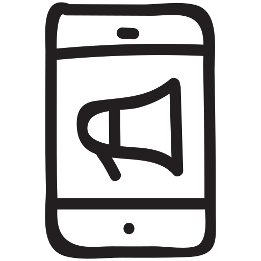 annoucement, business, finance, marketing, promotion, smartphone, technology icon