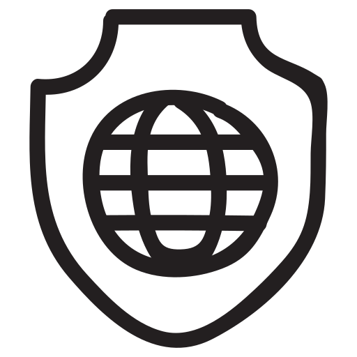 global, globe, protection, safety, secure, security, shield icon