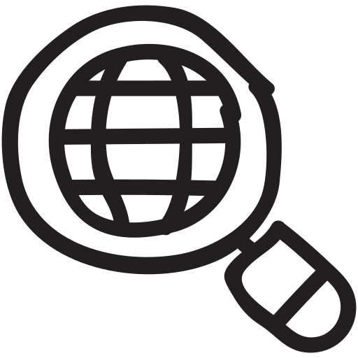 browser, global, internet, magnifier, search, solution, web icon