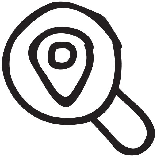 find, location, magnifier, map, pin, search, searchmap icon