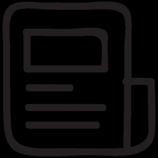blog, information, media, newspaper, paper, press, survey icon
