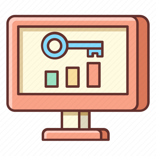 keyword, keywords, ranking, rankings, ranks icon