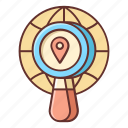 local, location search, location targeting, search icon