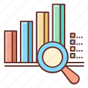 analysis, analytics, market, market research, research icon