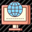 online, online presence, presence, seo, web, website icon
