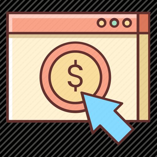 advertising, pay per click, ppc, seo icon