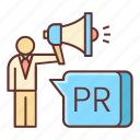 communication, pr, public relations icon