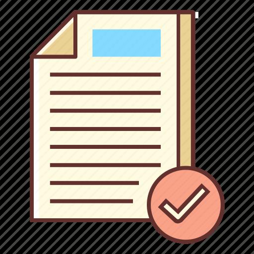 checked, document, readability, readability check, verified icon