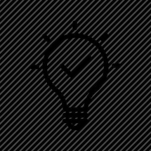 archive, bulb, creativity, done, idea icon