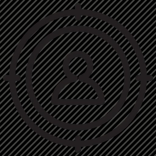 aim, boss, customer, marketing, success, target, user icon