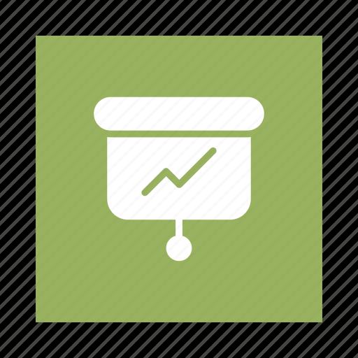 analytics, business, chart, display, media, presentation, projector icon