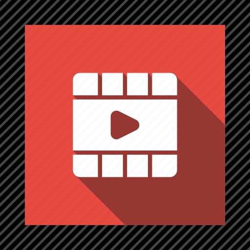 cinema, film, media, movie, reel, video, videoreel icon