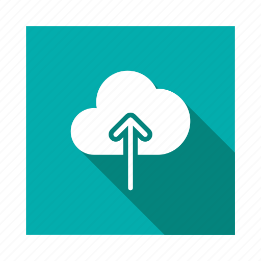 arrow, cloud, computing, data, save, up, upload icon