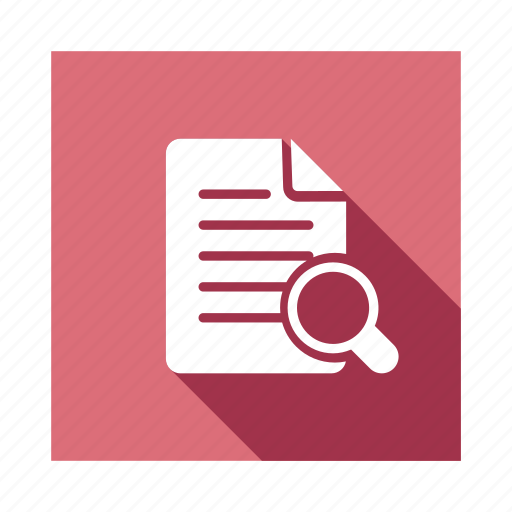 content, find, glass, magnify, magnifying, page, search icon