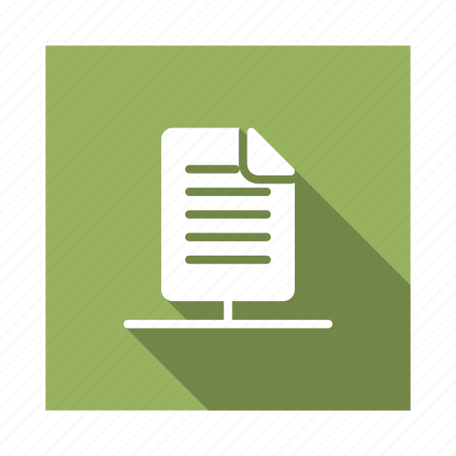column, document, file, format, page, share, social icon
