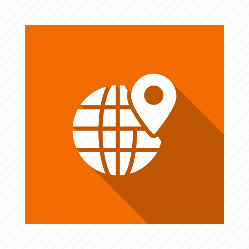 earth, global, international, location, navigation, pin, world icon