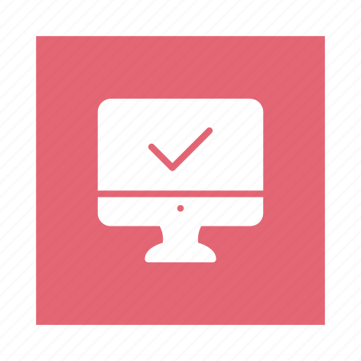 check, mark, monitor, online, pc, screen, testing icon