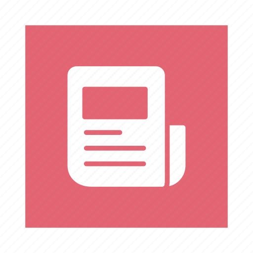 blog, information, media, newspaper, paper, press, survey icon