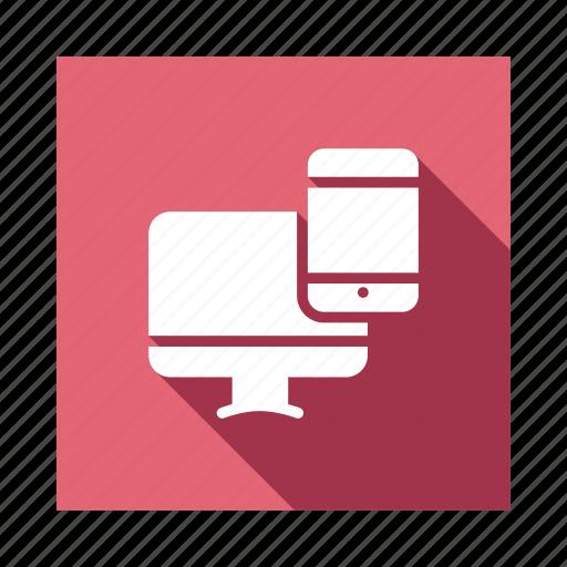Mobile, screen, devices, device, computer, design, responsive icon