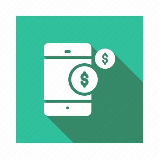 Transaction, business, banking, mobile, money, phone, payment icon