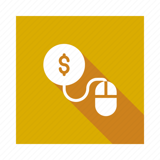 Payperclick, pay, per, cursor, coin, mouse, click icon