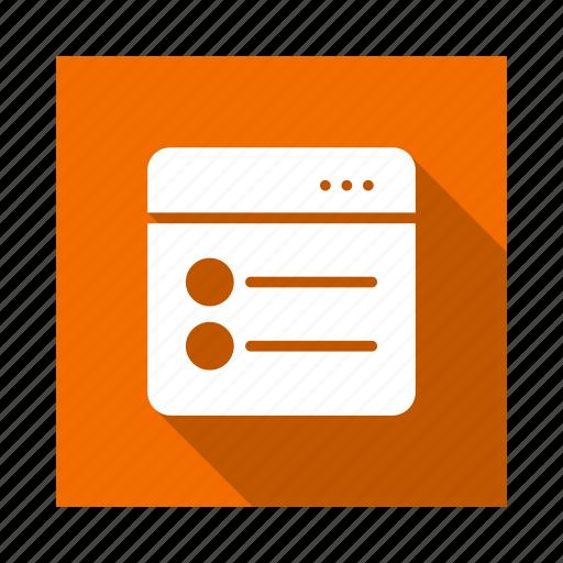 data, globe, list, menu, technology, web, webpage icon
