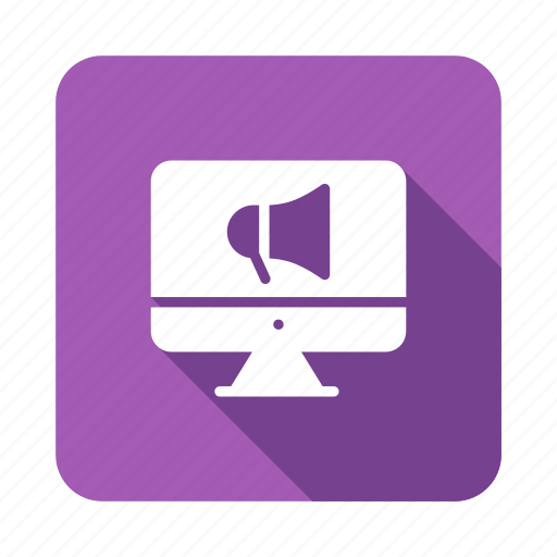 advertisement, advertising, announcement, marketing, megaphone, online, promote icon