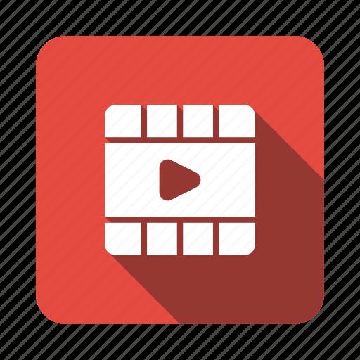 Cinema, film, media, movie, reel, video, videoreel icon - Download on Iconfinder