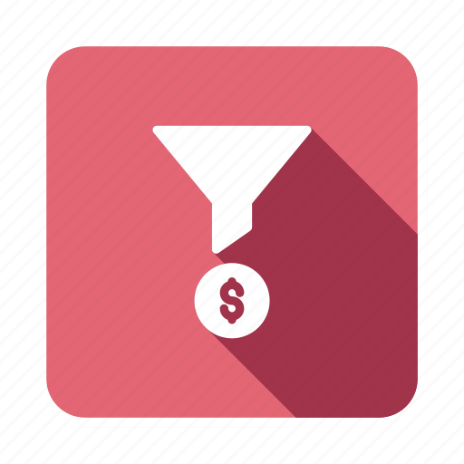 business, control, filter, finance, funnel, options, setting icon