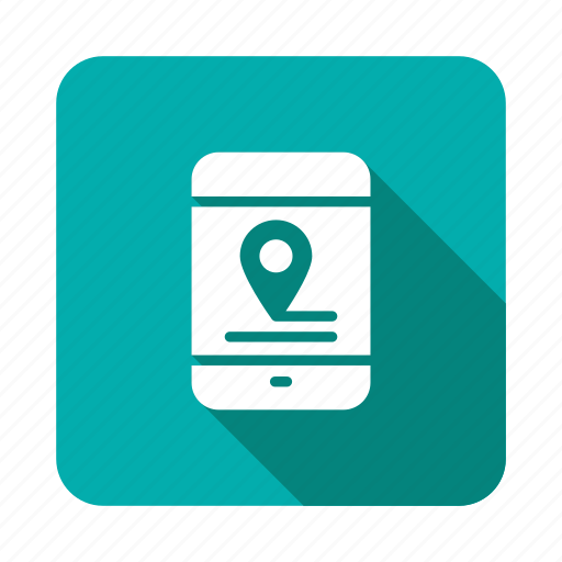 Map, mobile, locator, location, position, navigation, gps icon