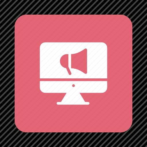 advertising, announcement, marketing, megaphone, online, promote, promotion icon
