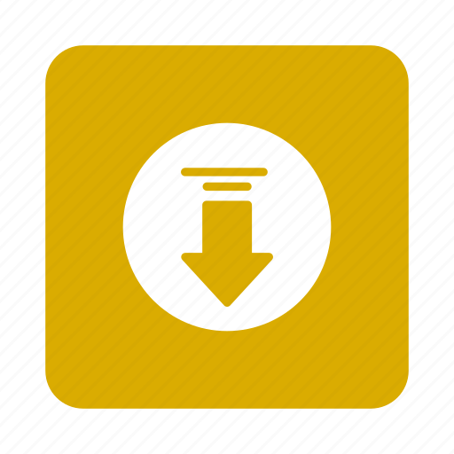 arrow, communication, data, direction, down, download, inbox icon
