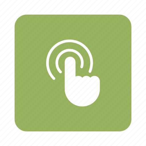 Touchscreen, screen, hand, finger, touch, display, gesture icon