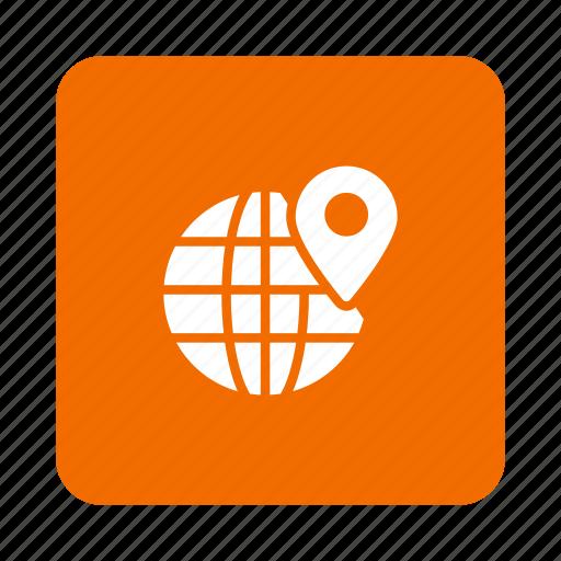 earth, global, international, location, navigation, pin, world icon