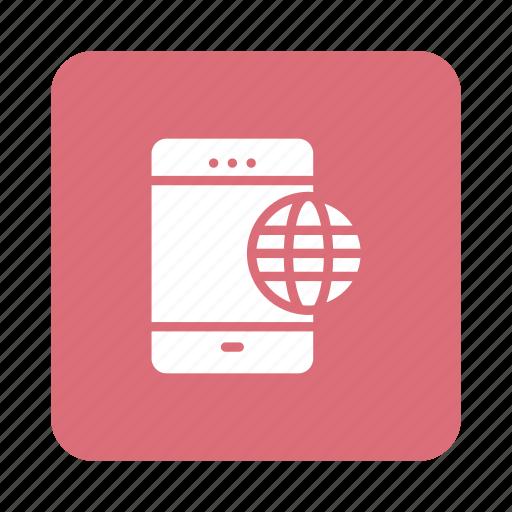 Network, mobile, global, phone, internet, international, smart icon