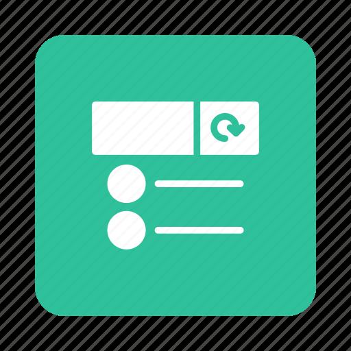 file, list, menu, refreshdata, refreshlist, reload, renew icon